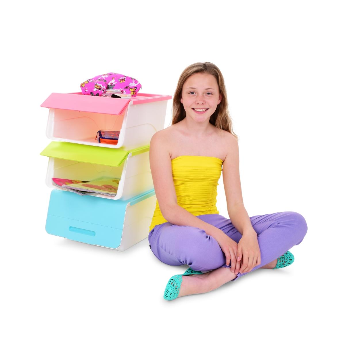 DA14423-ŠTOSBOX plastový box pastelovo ružový
