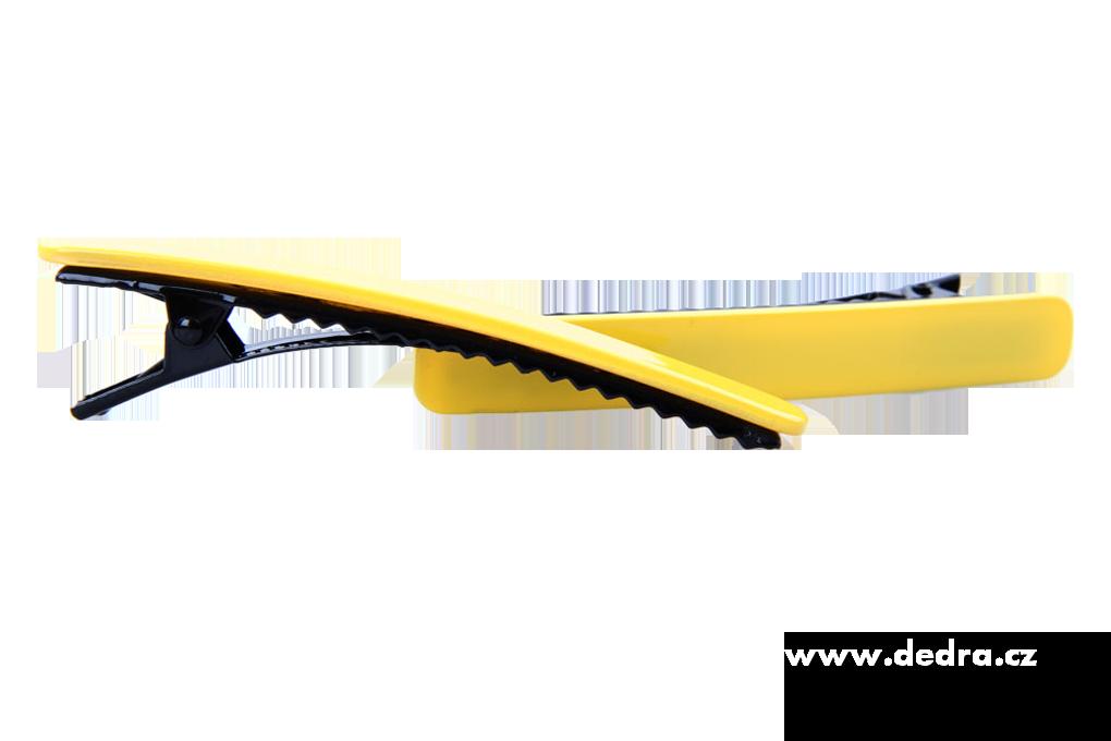 2ks spon do vlasů žluté délka 8,5 cm