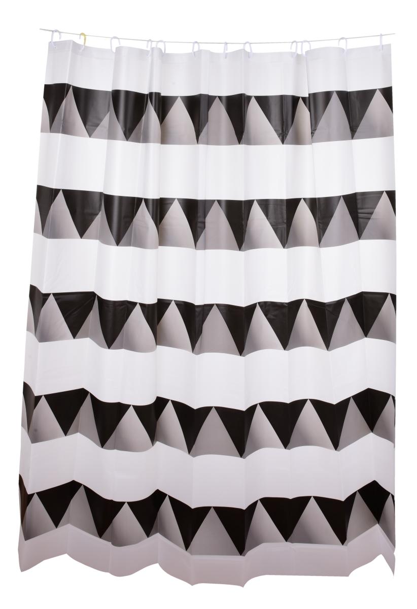 Koupelnový závěs s dekorativním potiskem black&white
