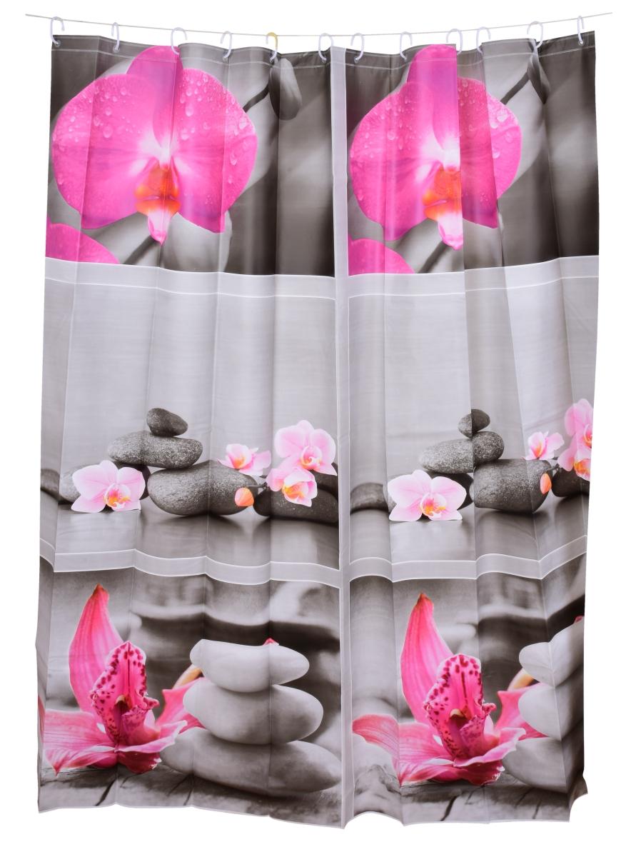 Koupelnový závěs s dekorativním potiskem zen harmony