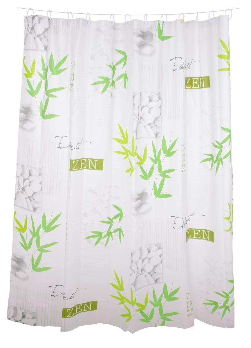 FC14314-Kúpeľňový záves s dekoratívnym potlačou bamboo zen