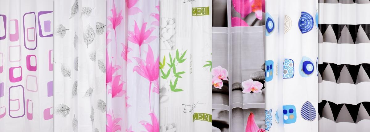 FC14313-Kúpeľňový záves s dekoratívnym potlačou kvety