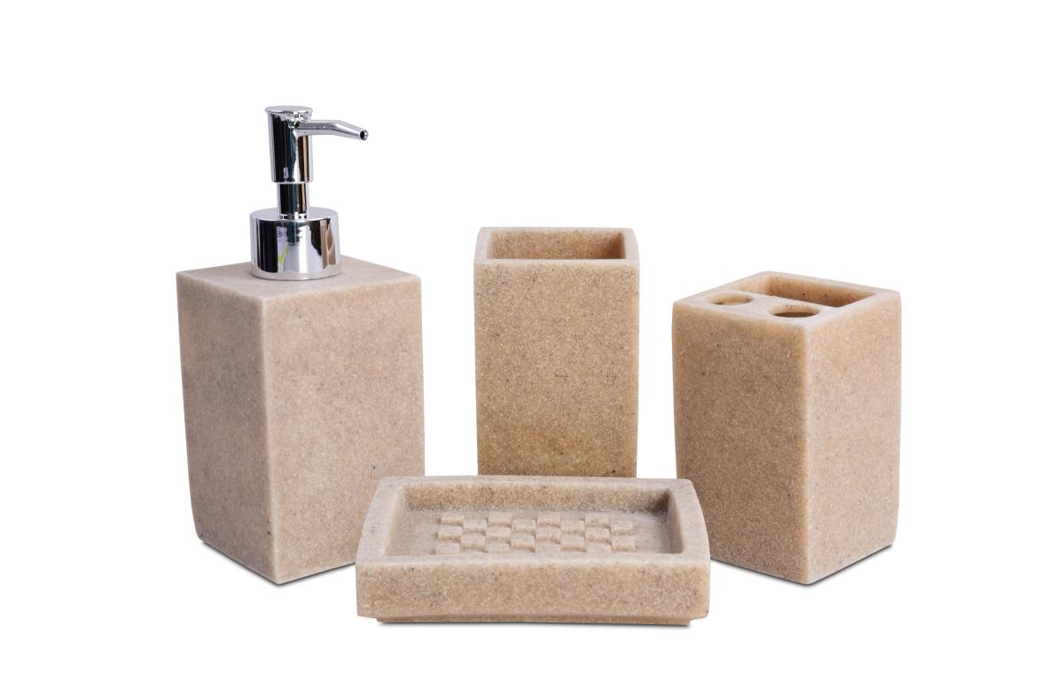 CUBE STONE II koupelna 4 dílná souprava přírodní