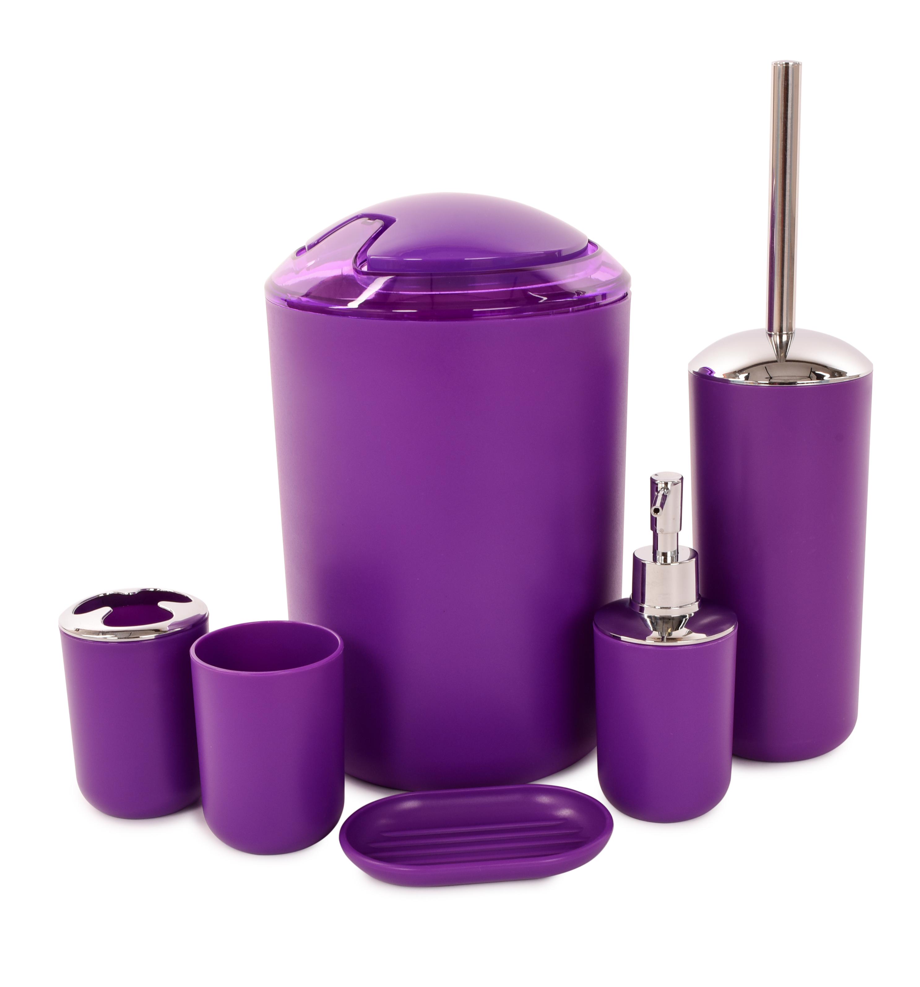 6 dílný koupelnový set fialový