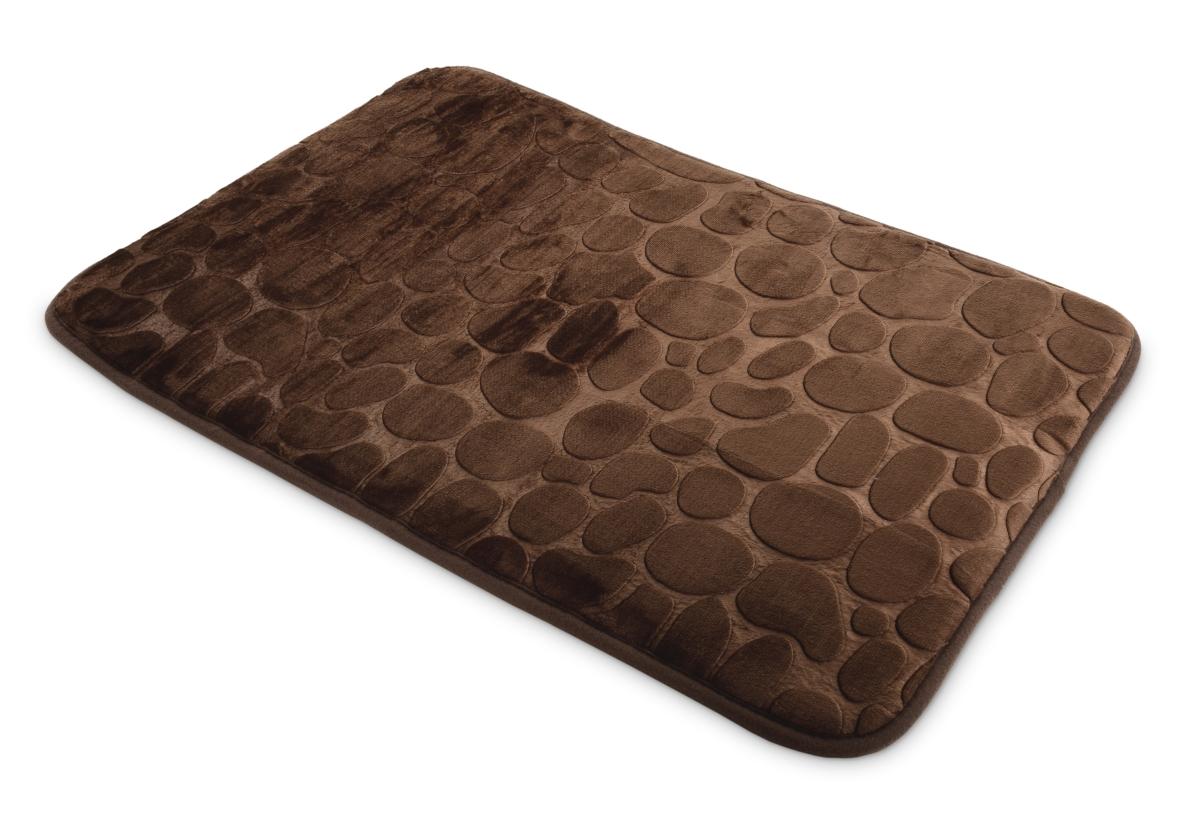 Koupelnová předložka 70 x 45 cm čokoládová