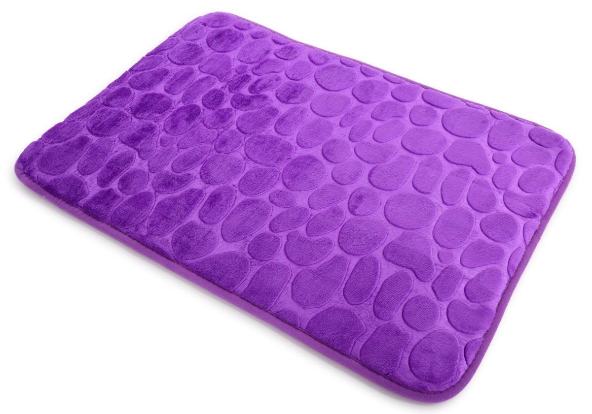 Koupelnová předložka 70 x 45 cm fialová lila