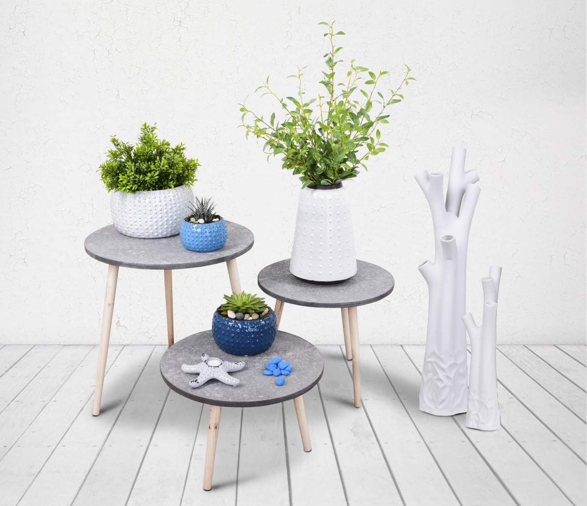 Keramická váza/plastika 51 cm na suché a ateliérové květiny