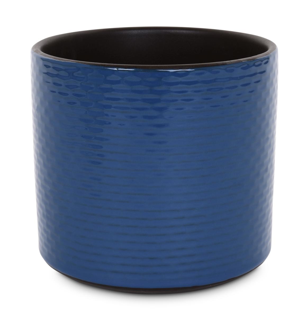 Keramická váza nebo obal na květináč tmavě modrá