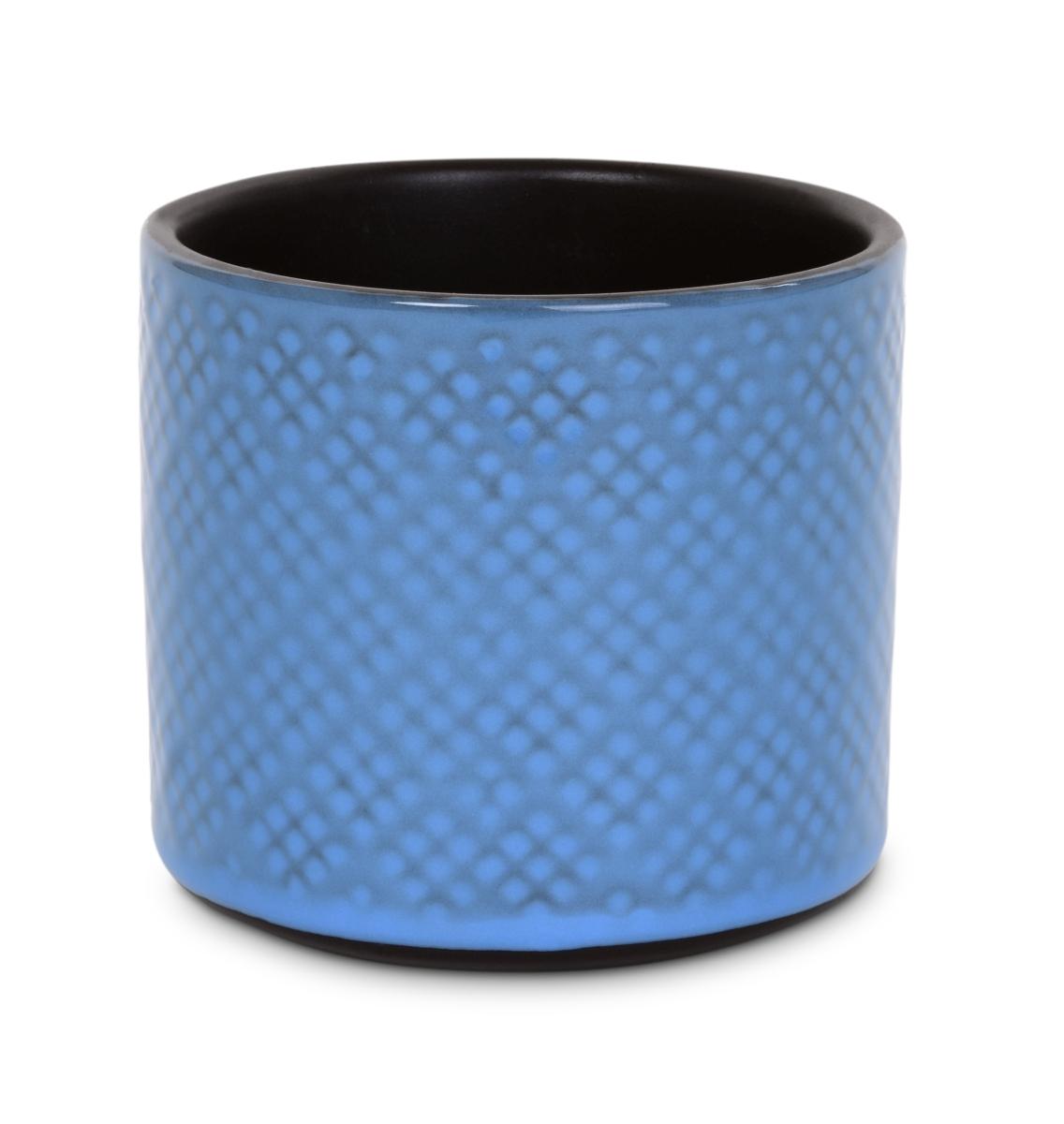 Keramická váza  nebo obal na květináč světle modrá