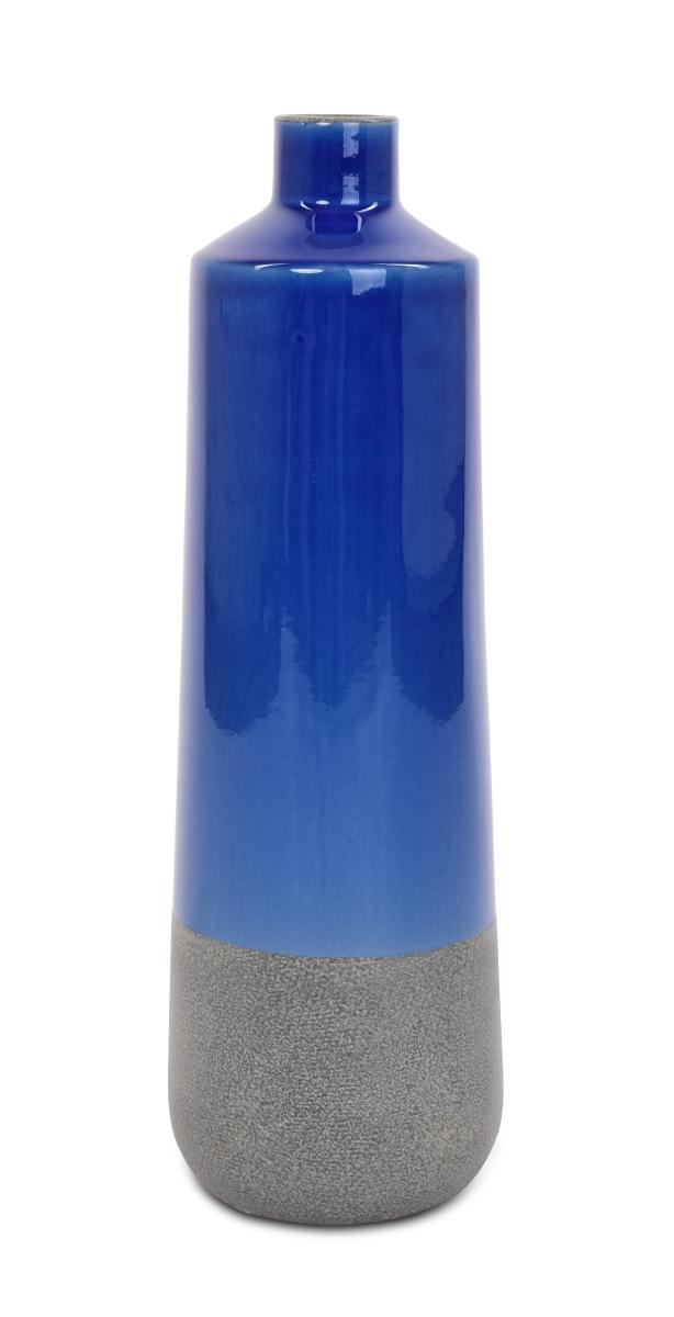 Keramická váza vysoká 55 cm modrá
