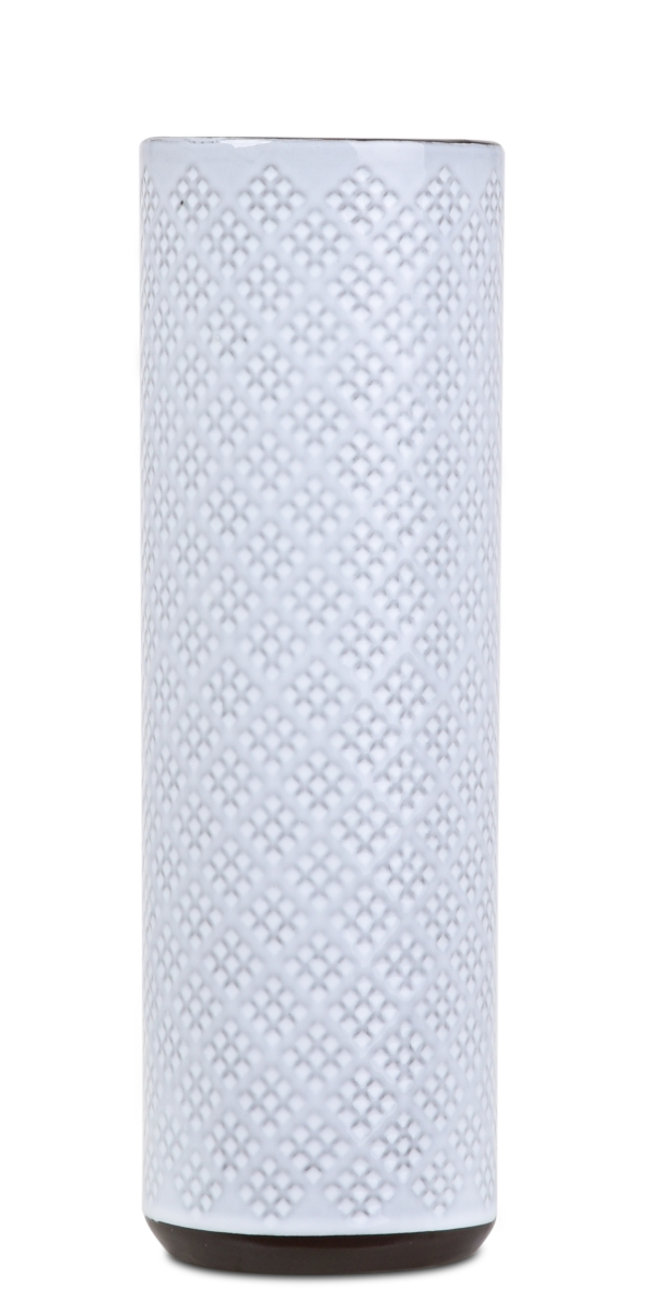 Keramická váza úzká smetanová