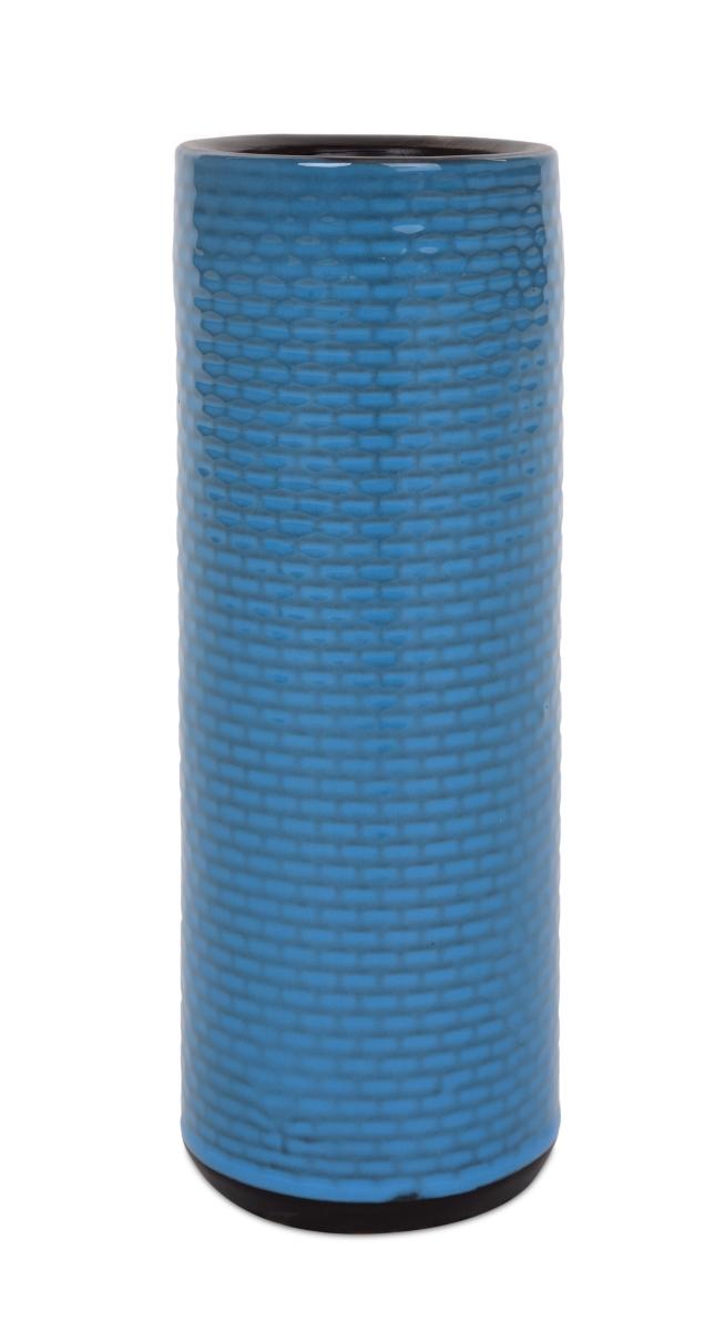 Keramická váza úzká modrá