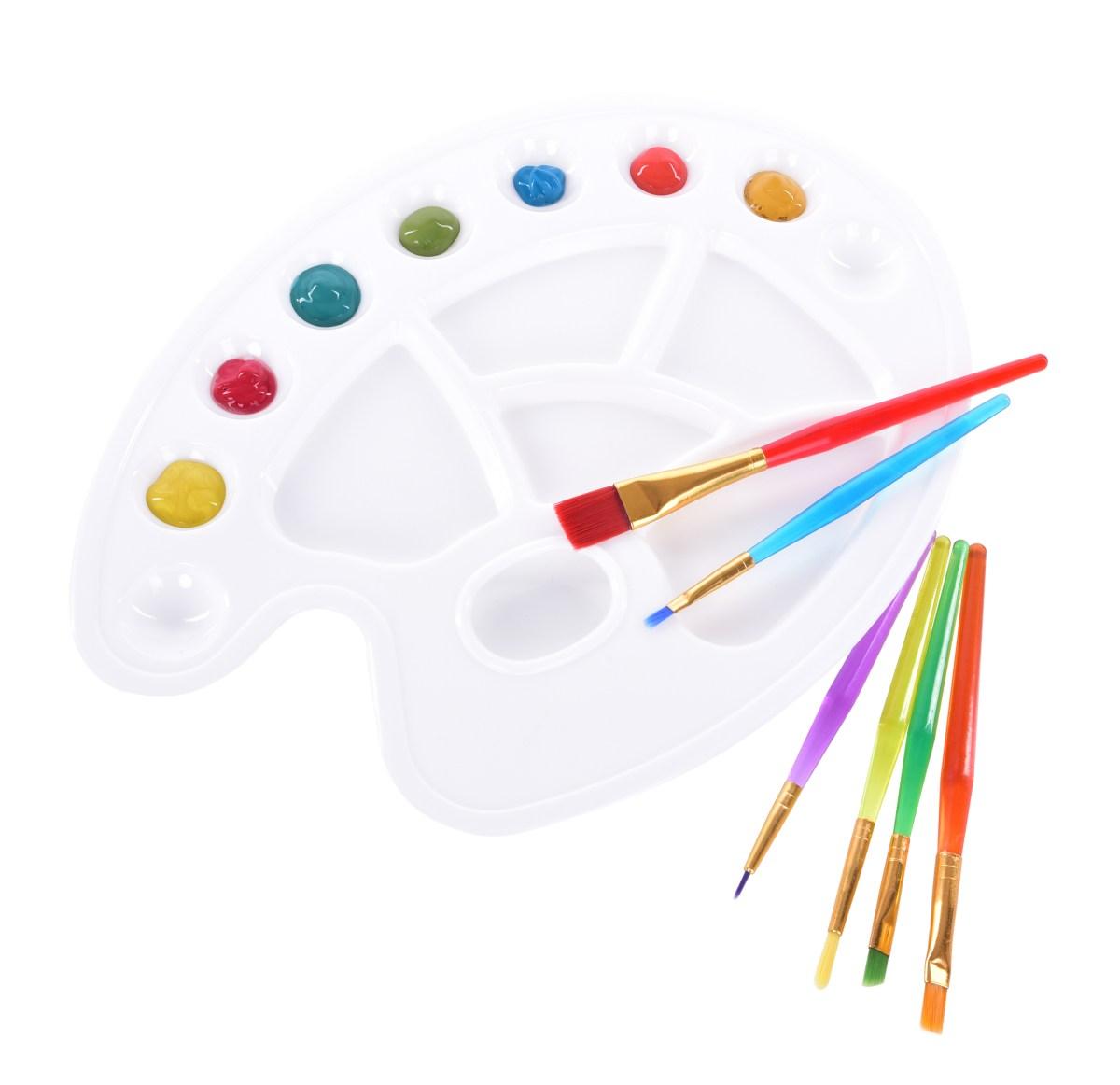 XL paleta na malování, s otvorem pro prst
