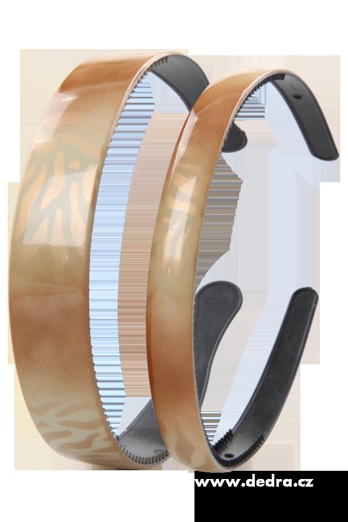 2ks čelenek do vlasů zlaté tóny š.: 2,5 cm + 1,5 cm