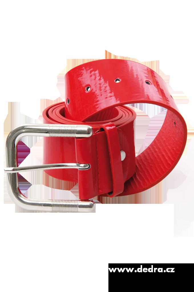 Dámský pásek z ekokůže,červený celková délka:125 cm