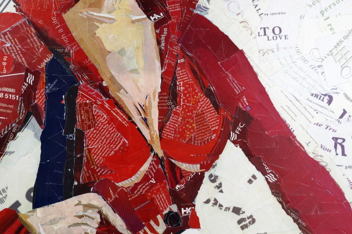 Koláž obraz FASHION ŽENA, 82 x 82 cm