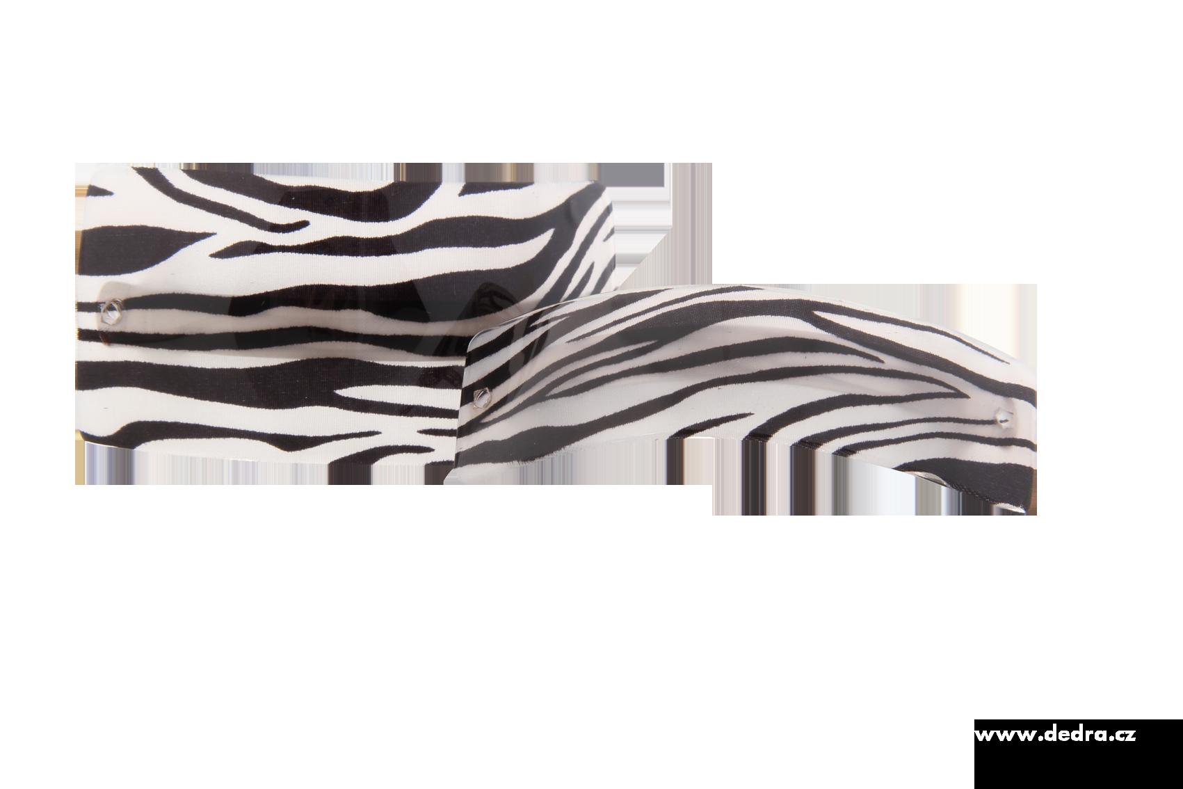 2ks spon do vlasů Zebra d.: 9 cm,š.:5 + 3 cm