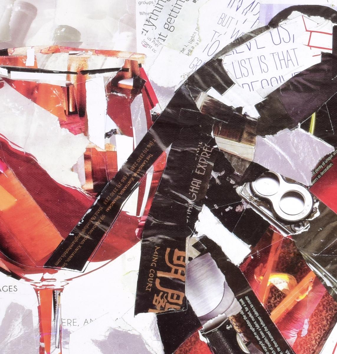 Obraz HIGH HEELS, střevíc se sklenkou vína