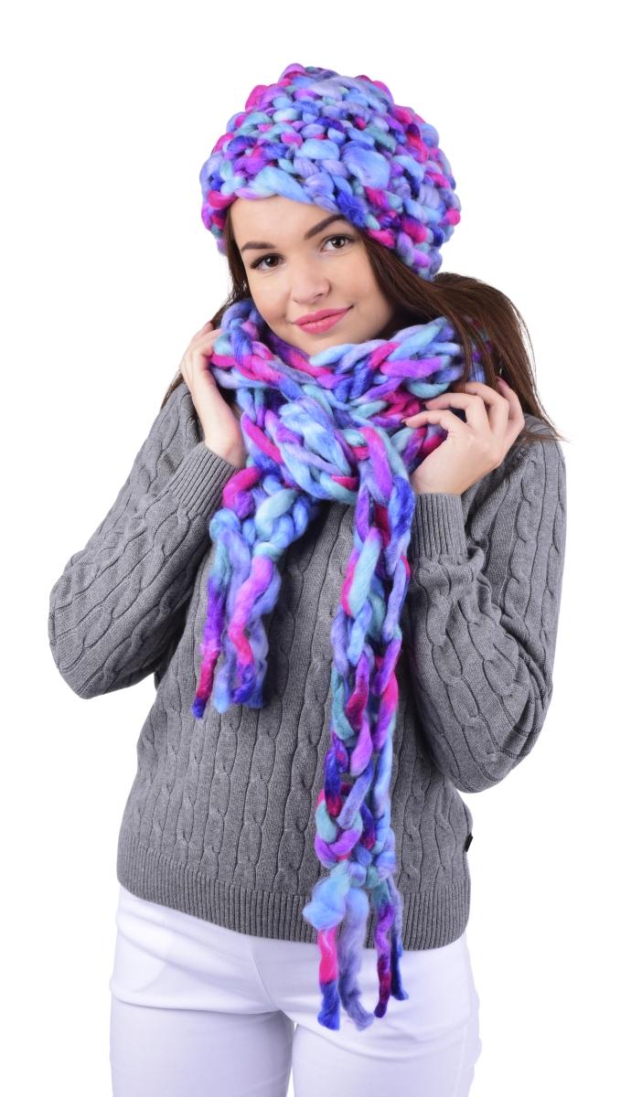 Extra long 300cm pletená úzká šála