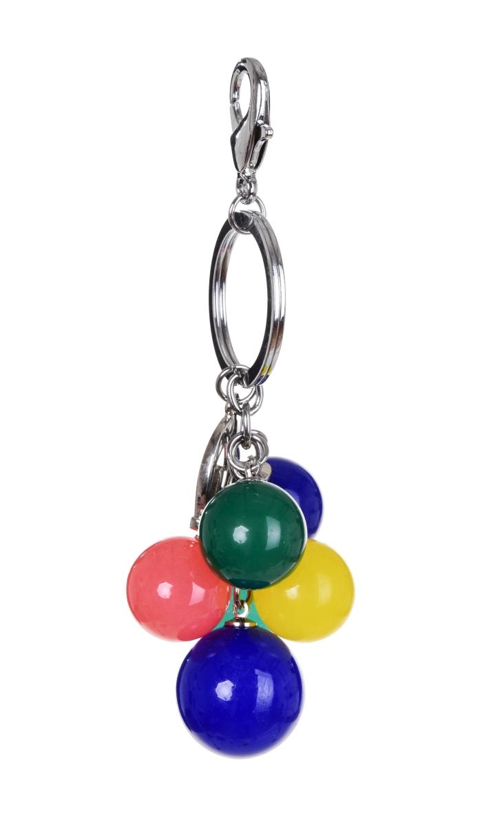 PŘÍVĚŠEK KULIČKA na kabelku či klíče červená