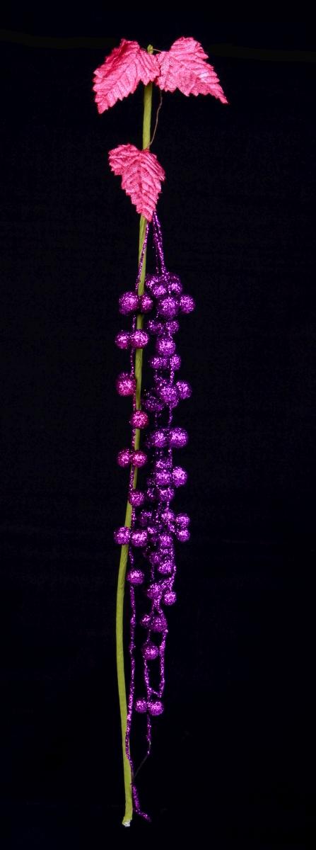 Třpytivé víno délka cca 60 cm fialové