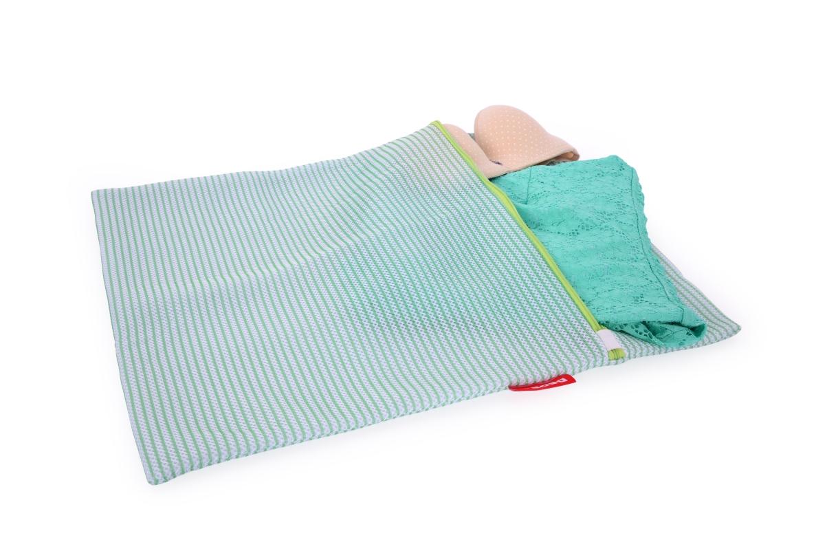 XXL sáček na praní jemného prádla  odolná sendvičová síťovina na zip, 47 x 60 cm.