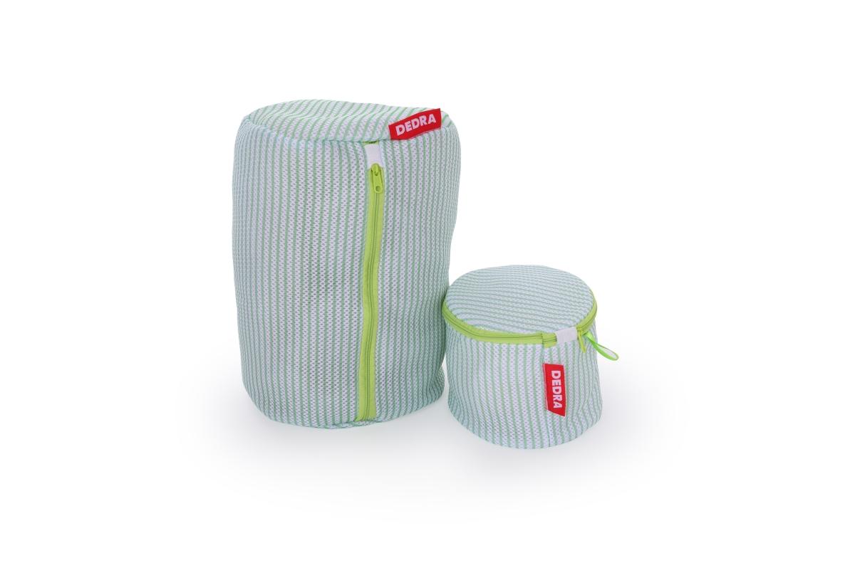 DA19682-Valec na pranie jemnej bielizne odolná sendvičová sieťovina na zips, priemer 22 cm x v 33 cm