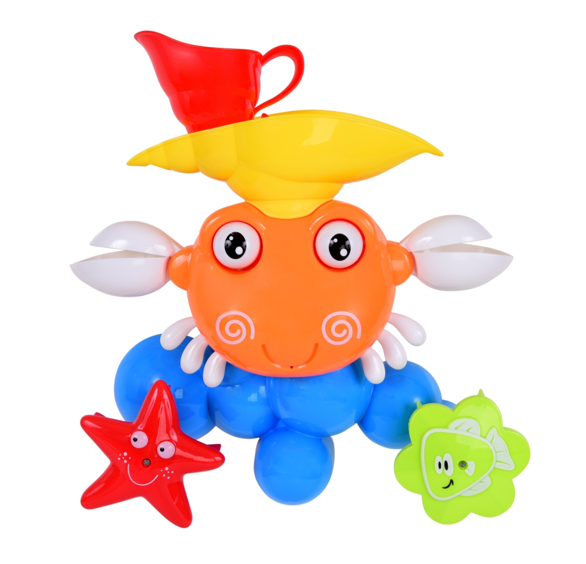 Veselý krab s otočným vodním mlýnkem
