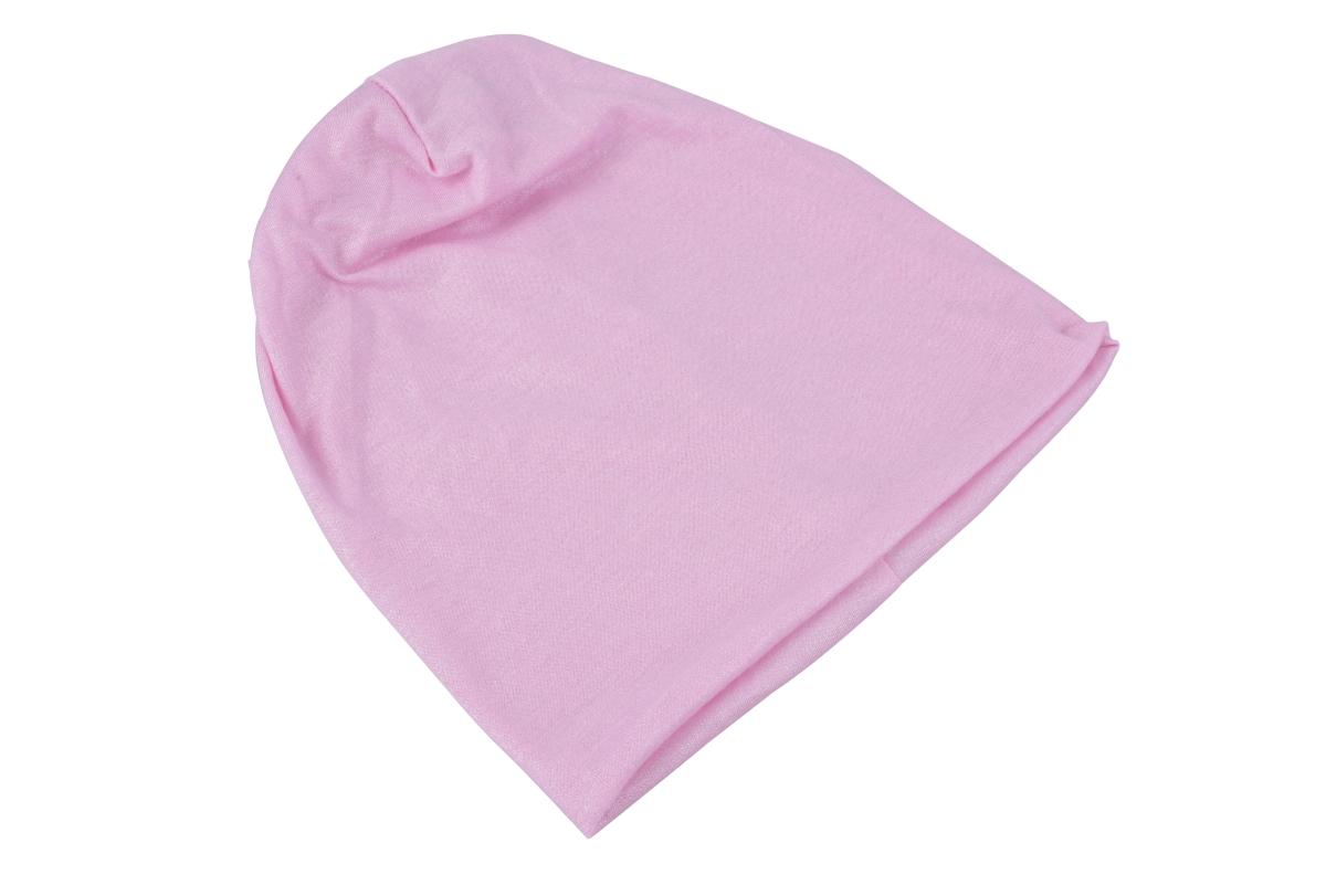 SHINY třpytivá čepice s lurexovou nitkou, růžová