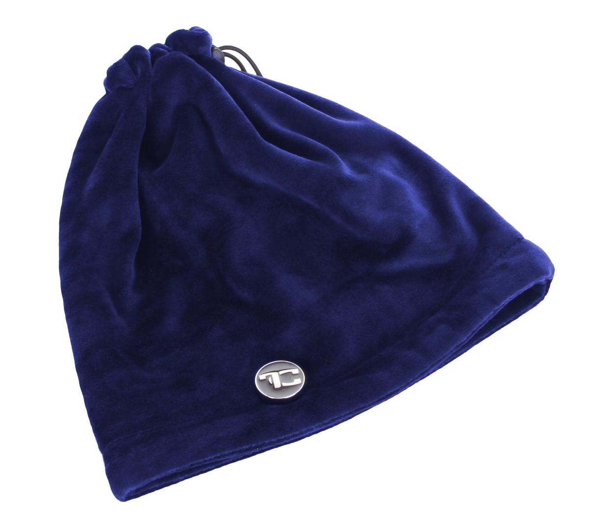 LAGOON VELVET 2v1  čepice/nákrčník půlnoční modrý