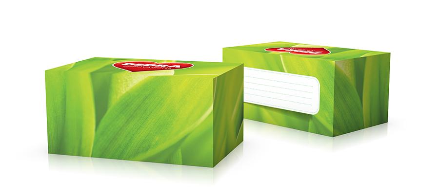 Krabice na 15 ks vzorkových lahviček dekor GREEN