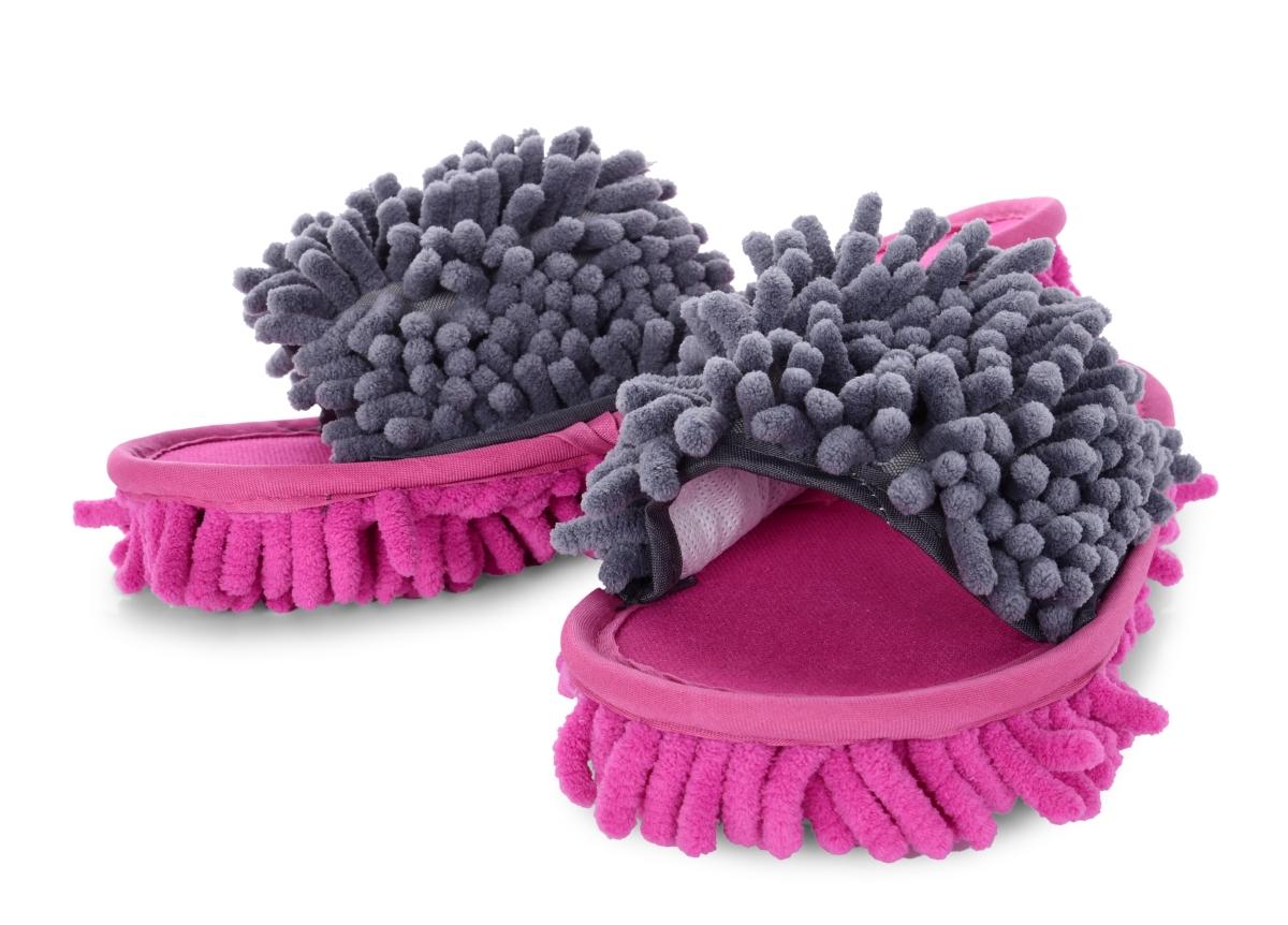 SAMOCHODKY upratovacie papuče šedo - ružové veľ. 36-40