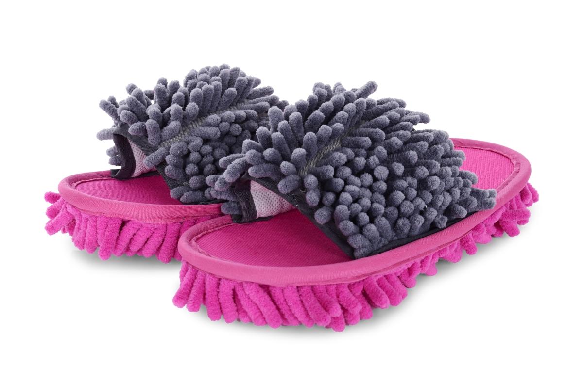 """""""Kapciopolerki"""" dwukolorowe obuwie czyszcz±ce, 1 para ró¿owo-szare, rozm. 36-40"""