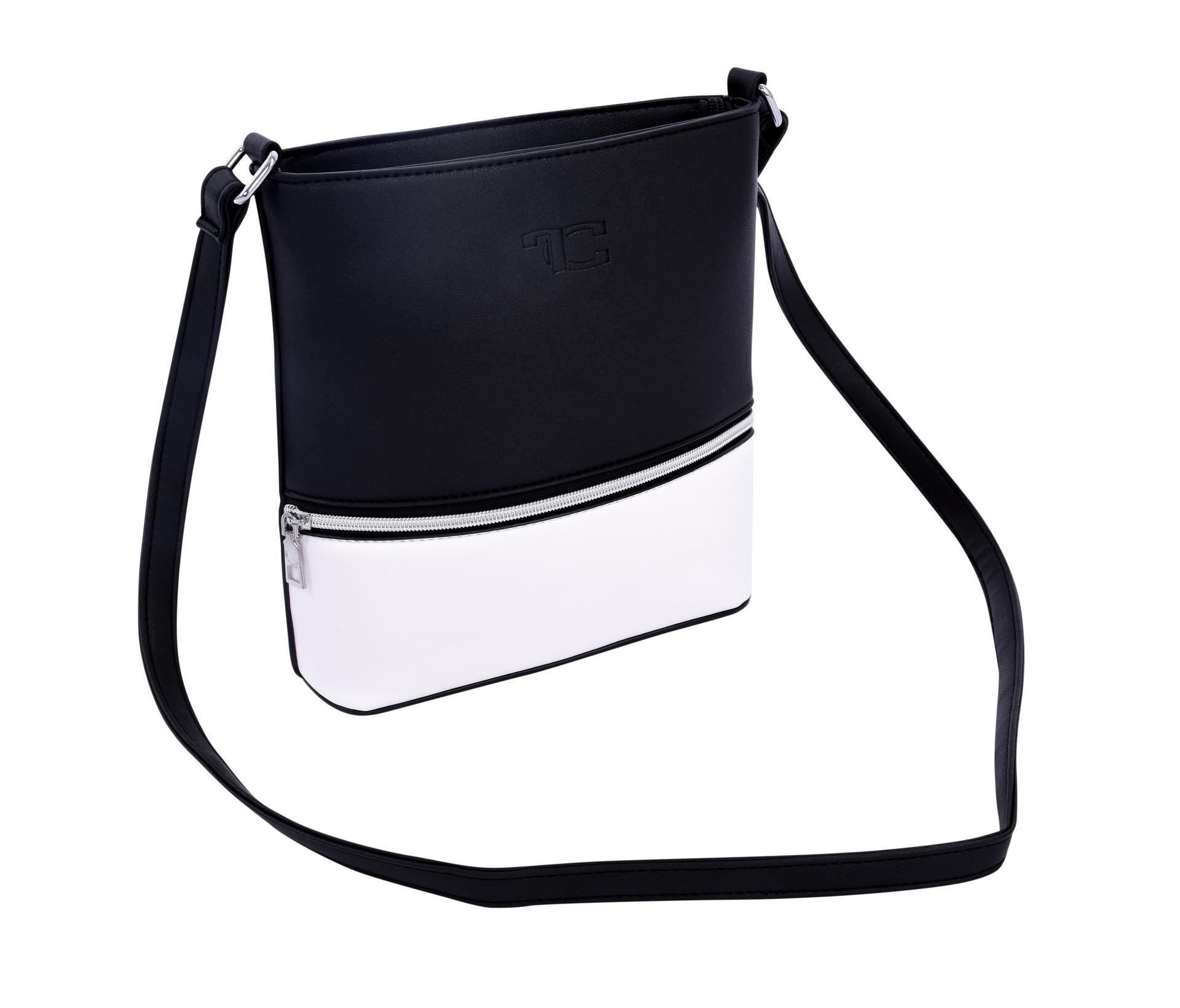 INFINITY CROSSBODY kabelka z ekokůže černo bílá