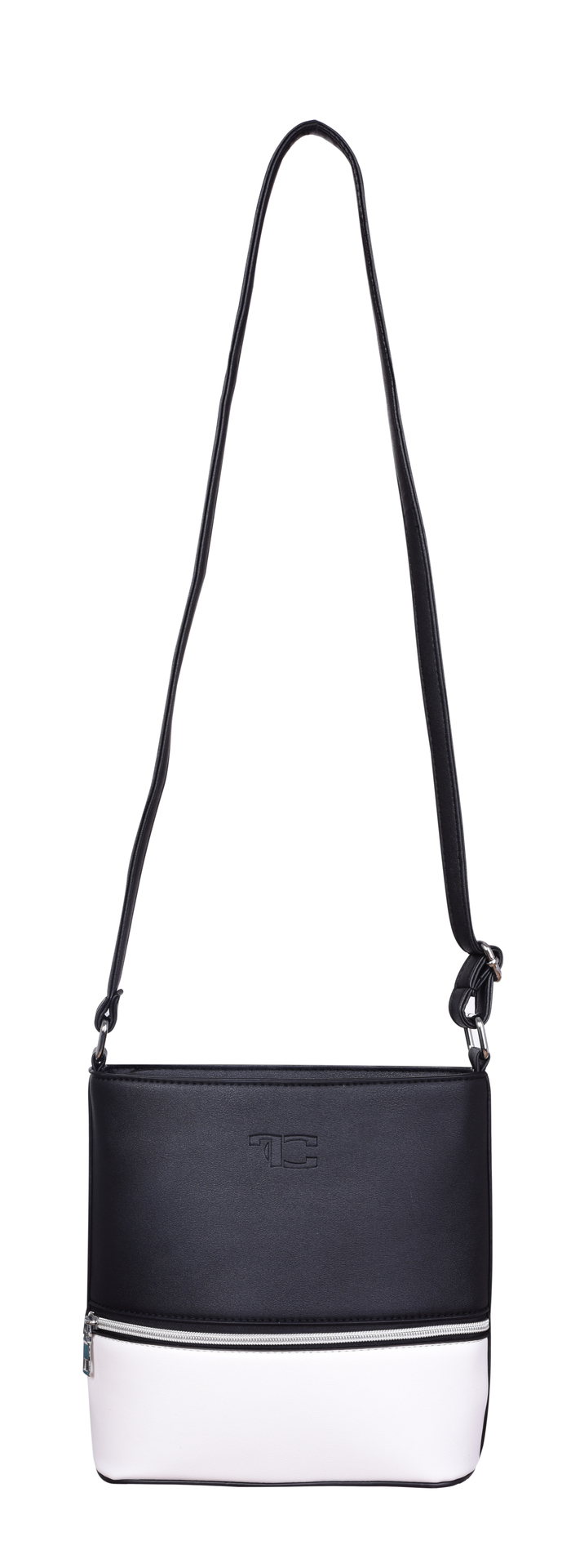 045a08e80c ... FC20032-INFINITY Crossbody kabelka z ekokože čierno biela ...