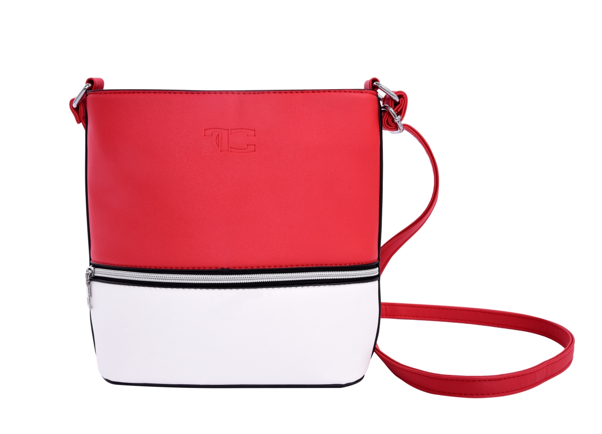 INFINITY CROSSBODY kabelka z ekokůže červeno bílá