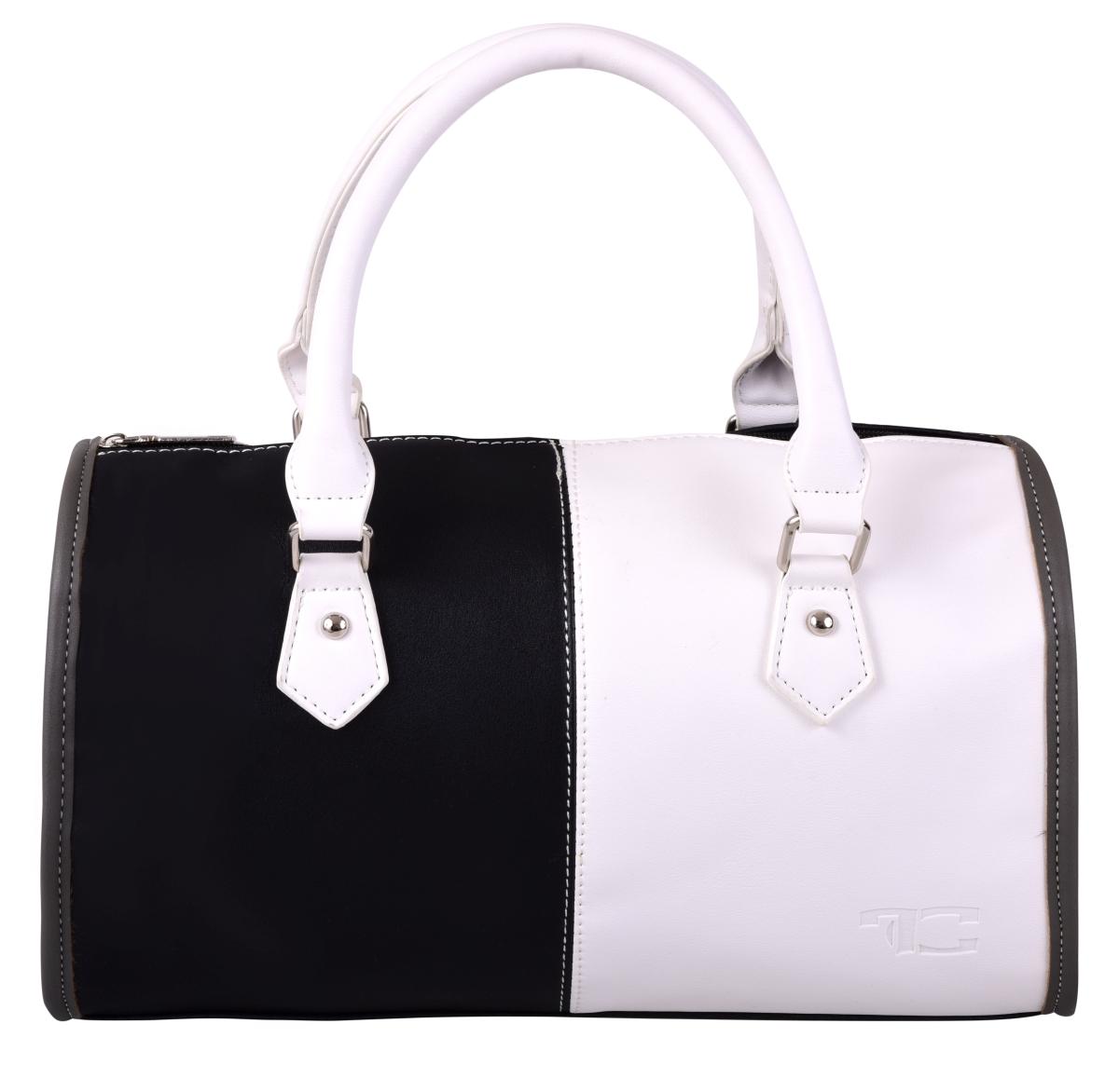 MYSTIQUE kabelka z ekokůže černo bílá