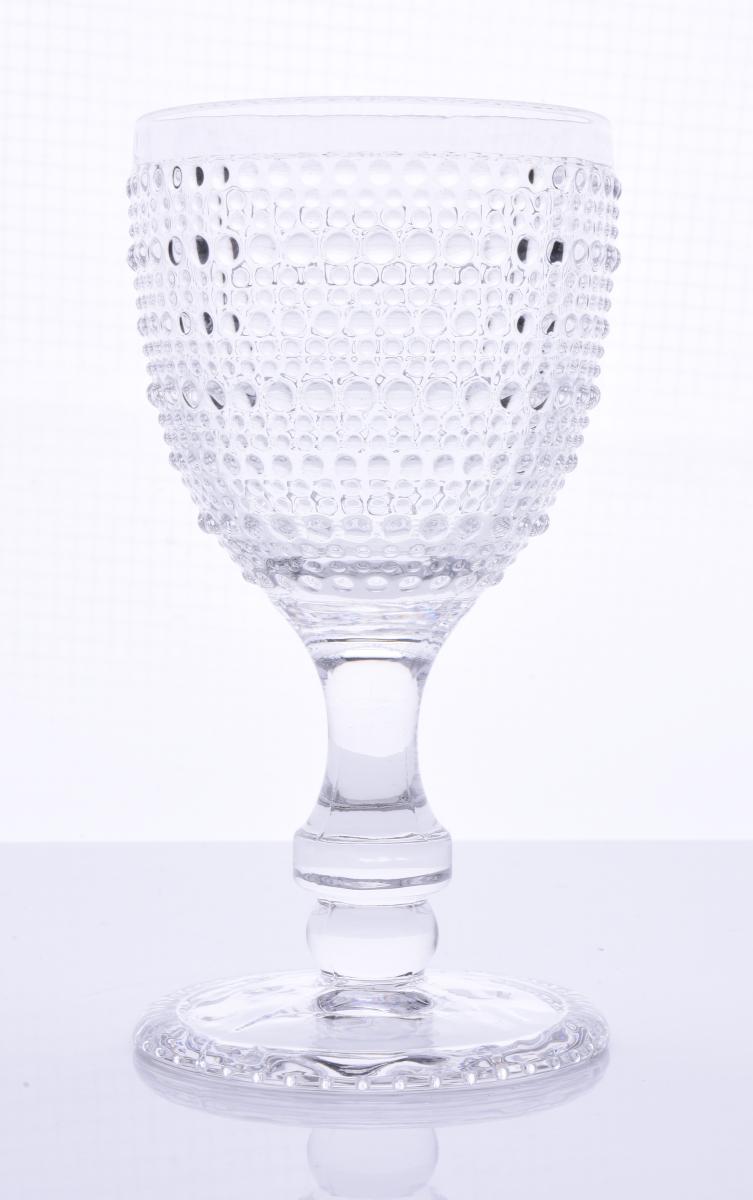 FC20083-Sklenený pohár s reliéfnym povrchom objem 270 ml