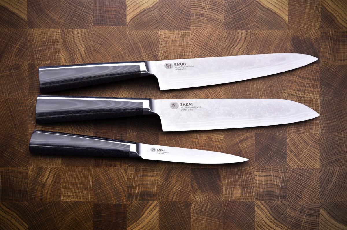 SAKAI 67 SANTOKU nůž Šéfkuchaře z 67 vrstev damascénské oceli