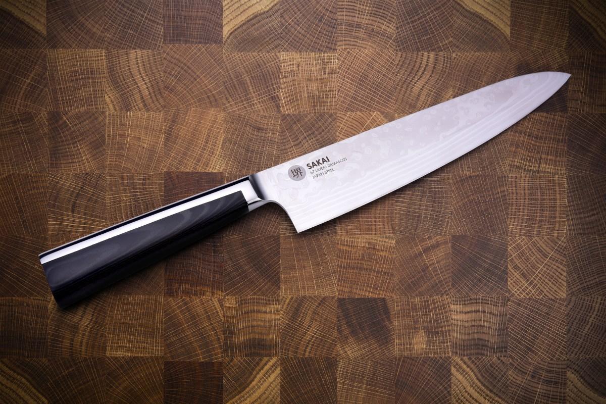 SAKAI 67 CHEF nůž Šéfkuchaře z 67 vrstev damascénské oceli