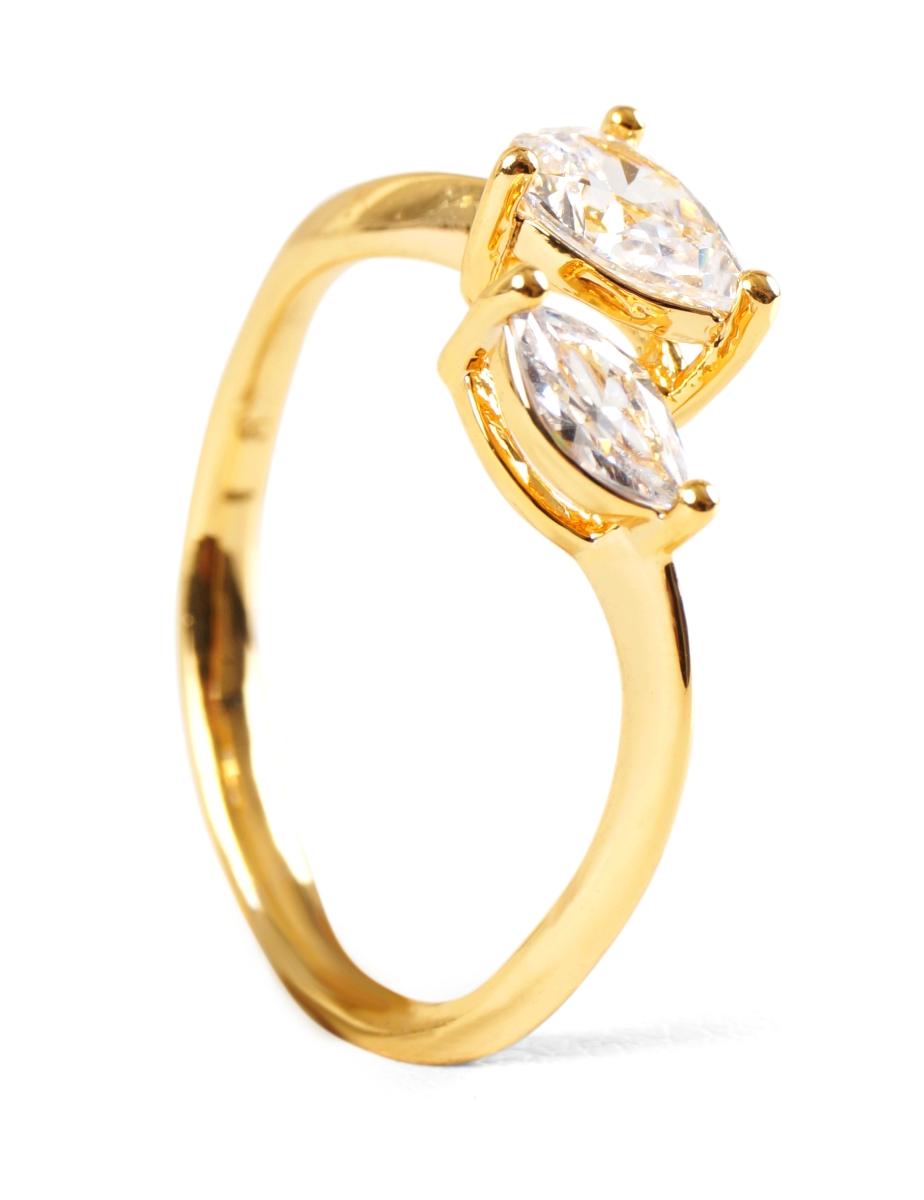 Prsten pozlaceno 24 Kt.
