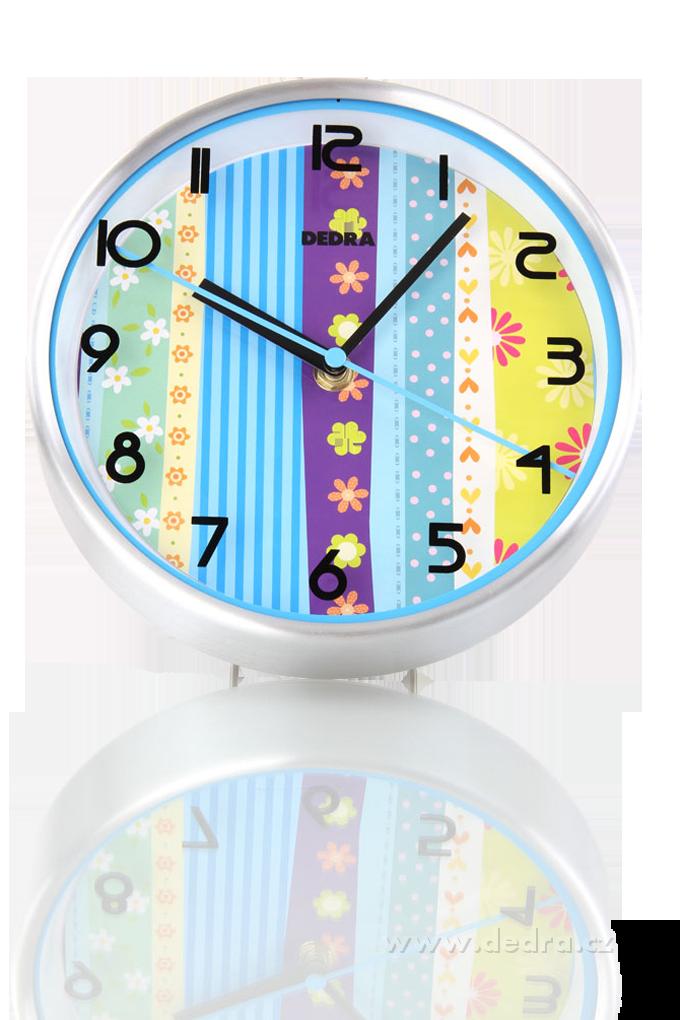 Modré hodiny nástěnné / stolní průměr 20 cm