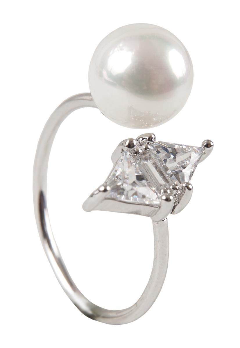 Prsten se zirkony rhodiováno 1(vel.6)