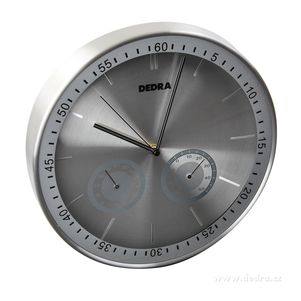 Nástěnné hodiny, s meteostanicí