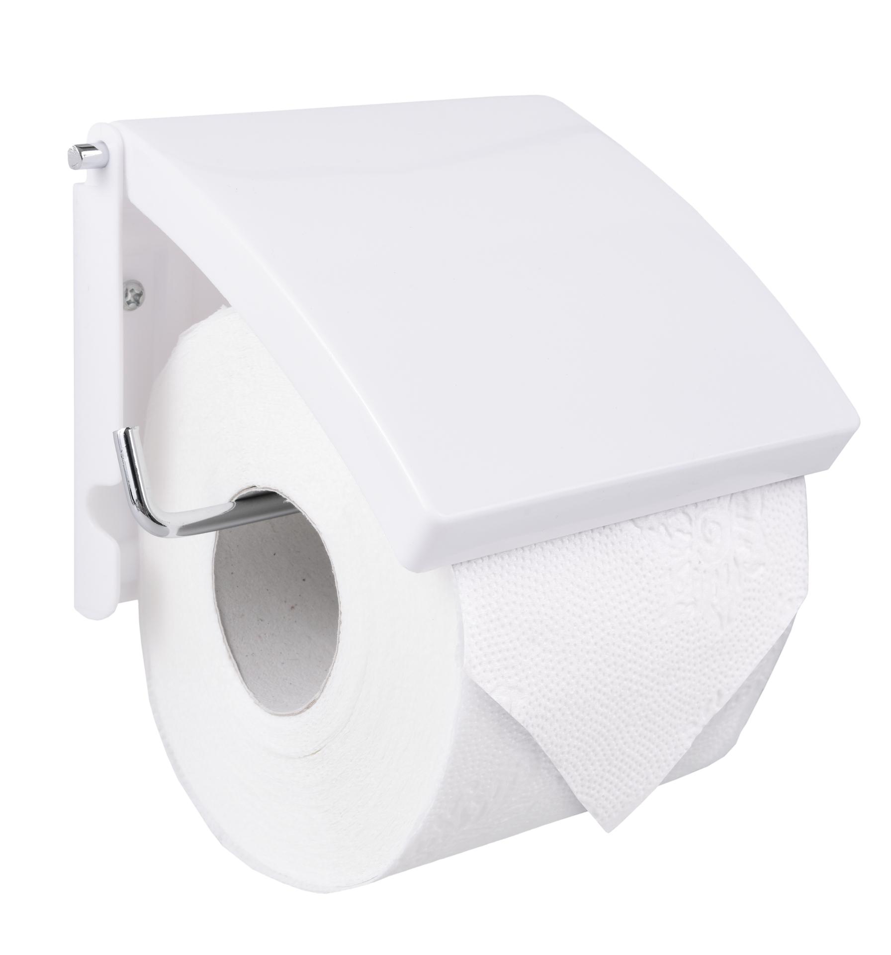 Držák toaletního papíru, bílý