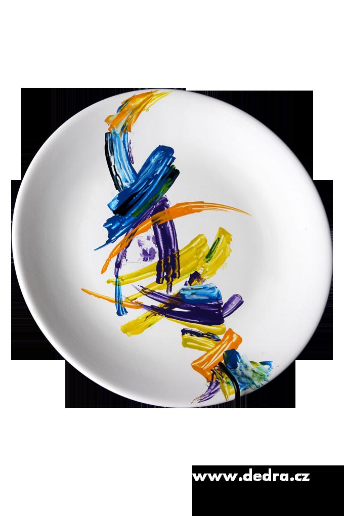 ABSTRACSVelký ručně malovanýkeramický talíř