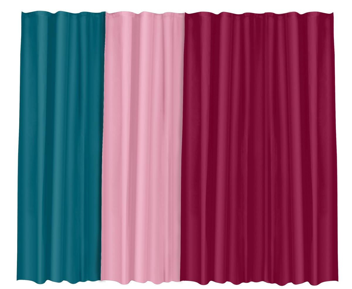 FC20373-Kúpeľňový záves jednofarebný bordó 180 x 180 cm