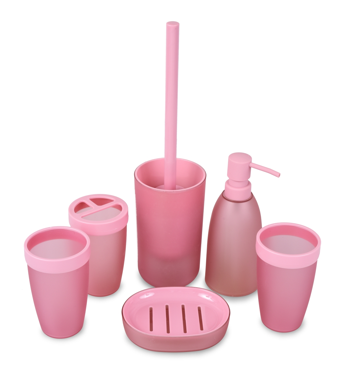 Kúpeľňový set - 6 dielny - ružový
