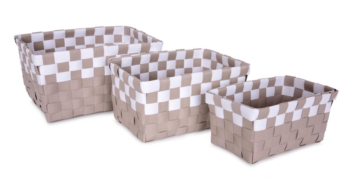 Sada 3 košíků, z plastového výpletu