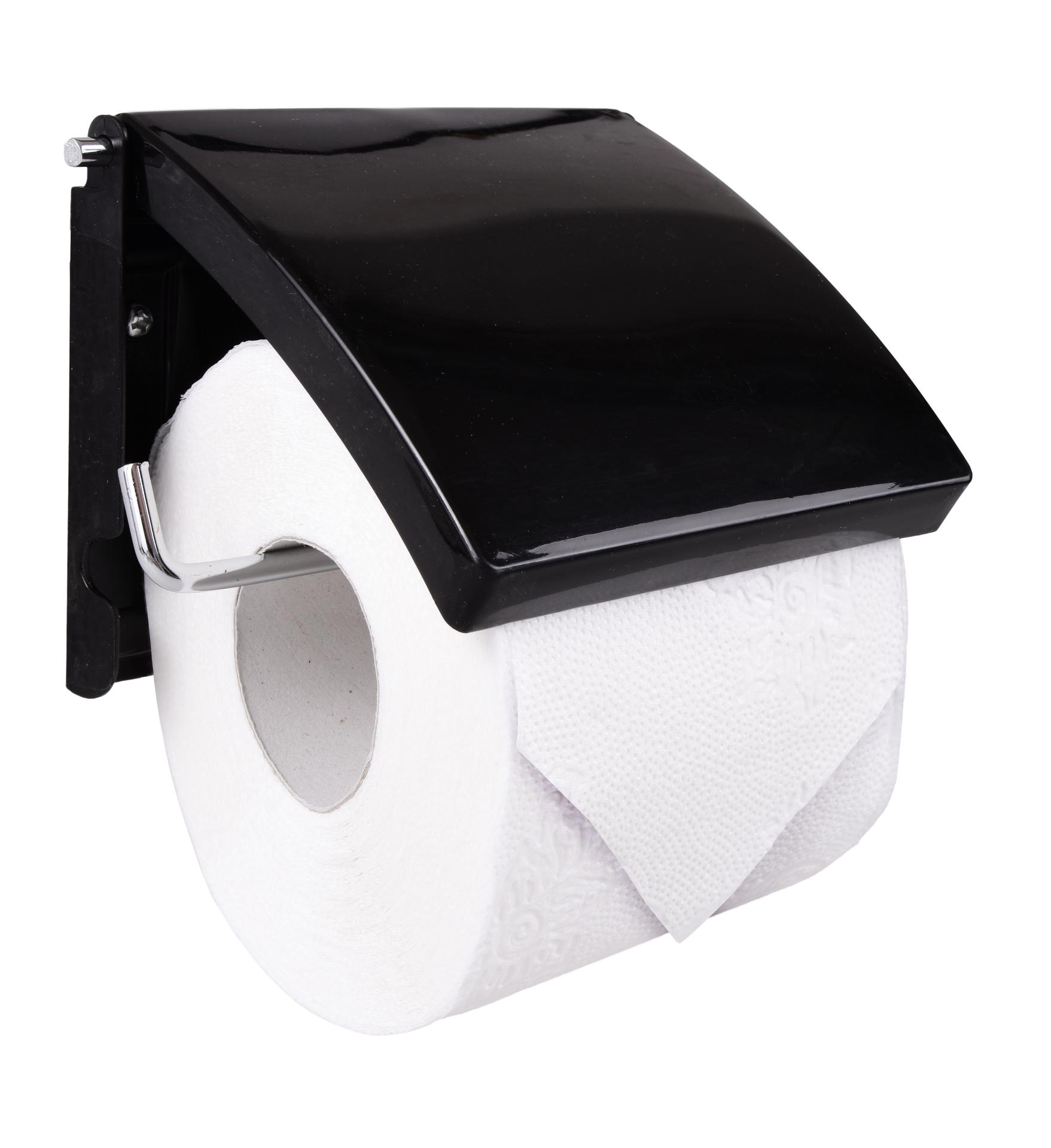 Držák toaletního papíru, černý